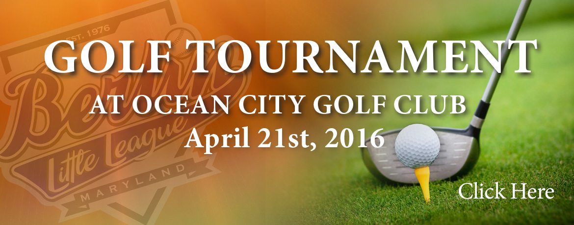 Golf Tournament at Ocean City Golf Club April 21st, 2016